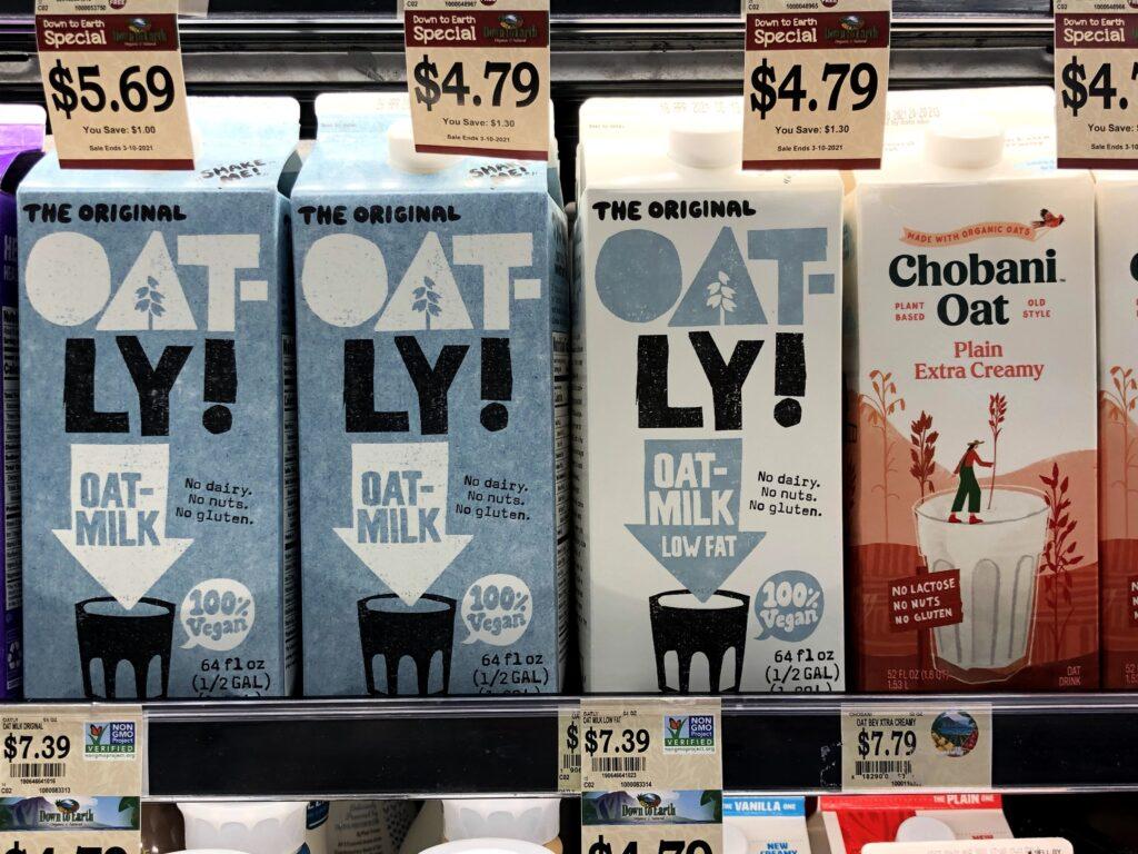 市販のオートミルク