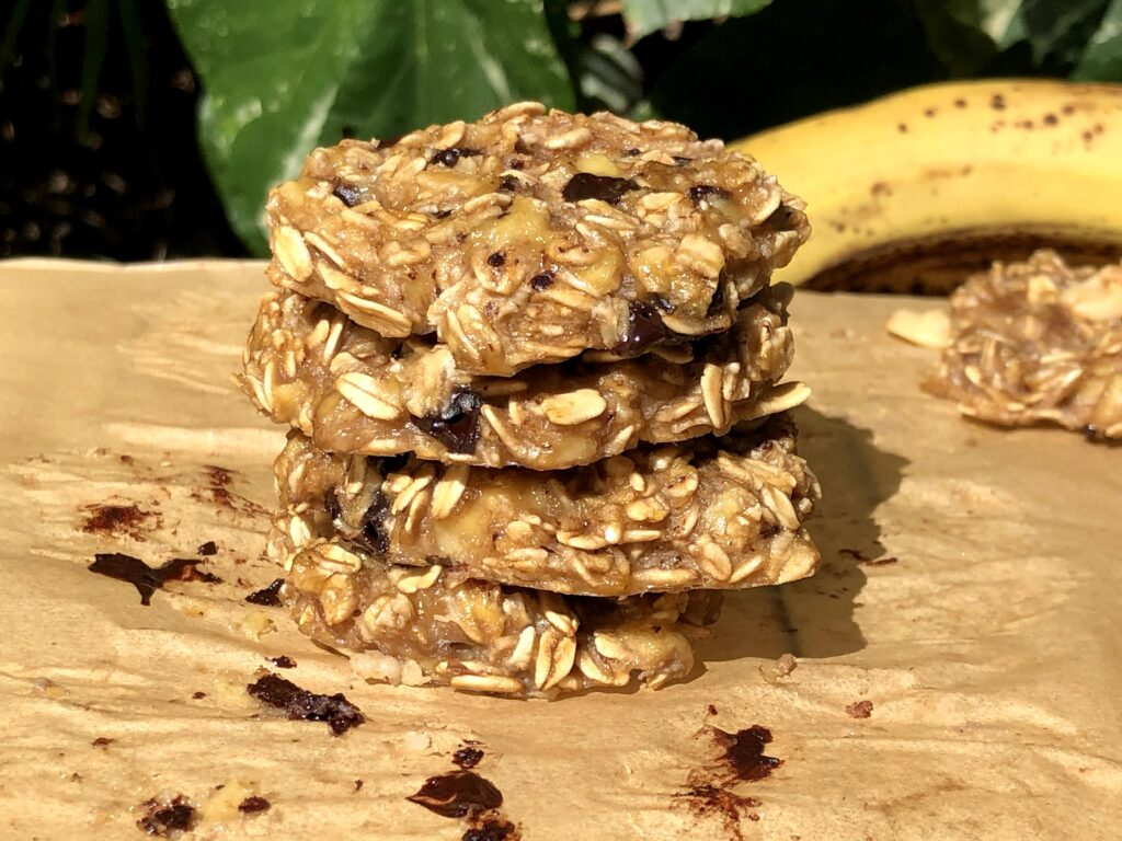 材料3つオートミールクッキーのレシピ