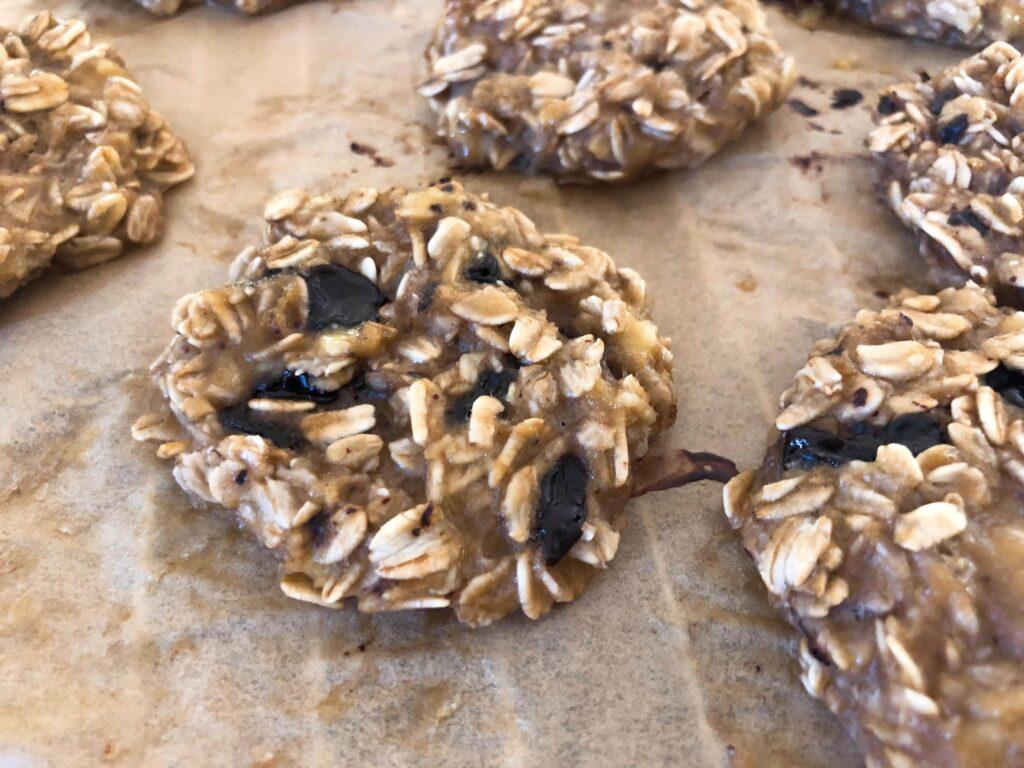 材料3つオートミールクッキーのレシピ_4