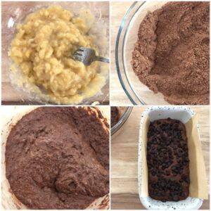ダブルチョコレートバナナケーキ