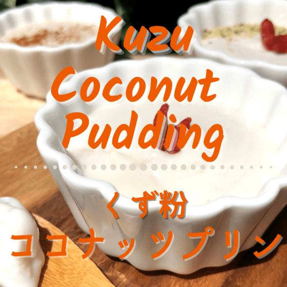 葛粉のココナッツプリンのレシピ_1