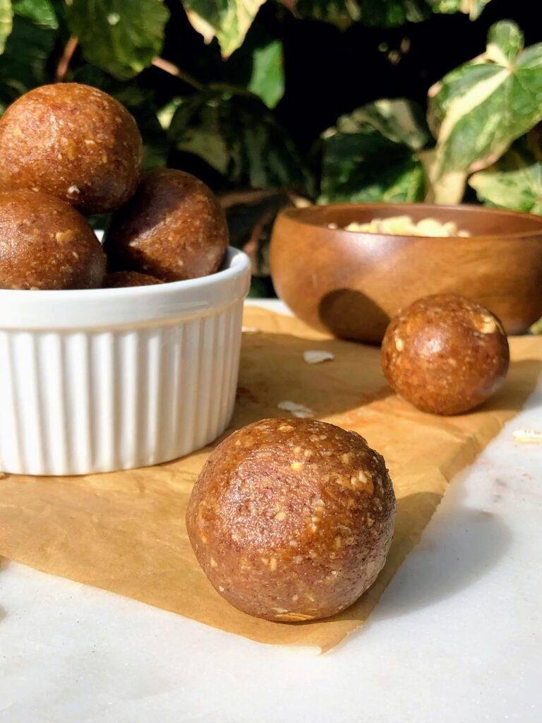 シナモンロール風エナジーボールのレシピ